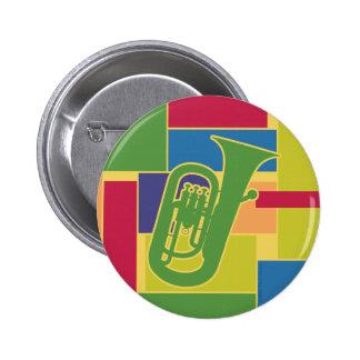 Botón de Colorblocks del Euphonium Pin Redondo De 2 Pulgadas