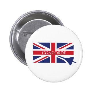 Botón de Concorde (insignia) Pin Redondo De 2 Pulgadas