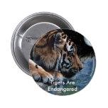 Botón de consumición del tigre de la fantasía pins