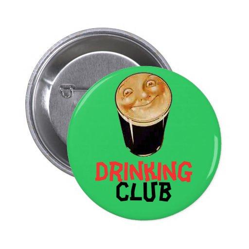 Botón de consumición irlandés del club pins