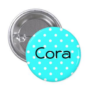 Botón de Cora Pin Redondo De 1 Pulgada