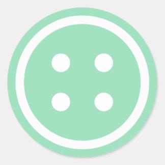 Botón de costura del trullo lindo pegatina redonda