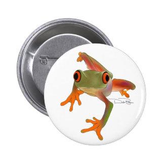 Botón de Crazy Frog Pin Redondo De 2 Pulgadas