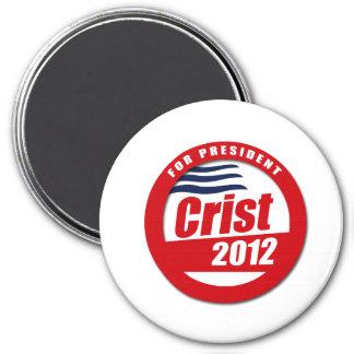 Botón de Crist 2012 Imán Redondo 7 Cm