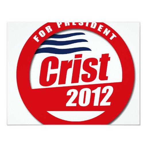 """Botón de Crist 2012 Invitación 4.25"""" X 5.5"""""""