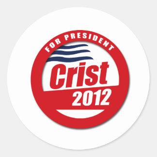 Botón de Crist 2012 Pegatina Redonda