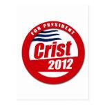 Botón de Crist 2012 Postal