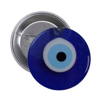Botón DE CRISTAL AZUL TURCO del AMULETO del MAL DE Pin
