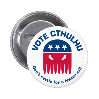 Botón de Cthulhu del voto Pin Redondo De 2 Pulgadas