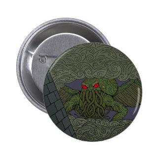 Botón de Cthulhu Pin Redondo De 2 Pulgadas