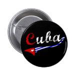 Botón de Cuba con colores cubanos de la bandera Pin