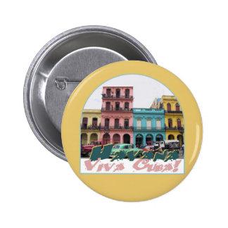 Botón de CUBA Pin Redondo De 2 Pulgadas