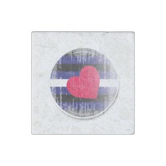 Botón de cuero distressed.png imán de piedra