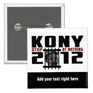 Botón de Customizeable KONY 2012 Pin Cuadrado