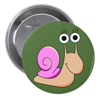 Botón de Cutie del caracol del chica Pin