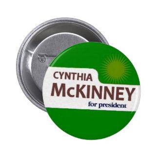 Botón de Cynthia McKinney Pin