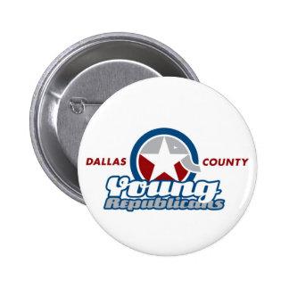 Botón de Dallas año Pin