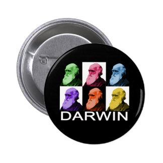 Botón de Darwin del arco iris Pin Redondo De 2 Pulgadas
