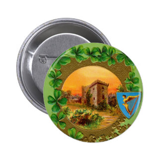 Botón de Dat de St Patrick del vintage Pin