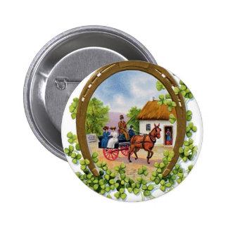 Botón de Dat de St Patrick del vintage Pins