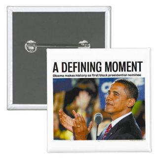 Botón de definición del momento de Obama