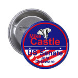 Botón de Delaware del CASTILLO Pin