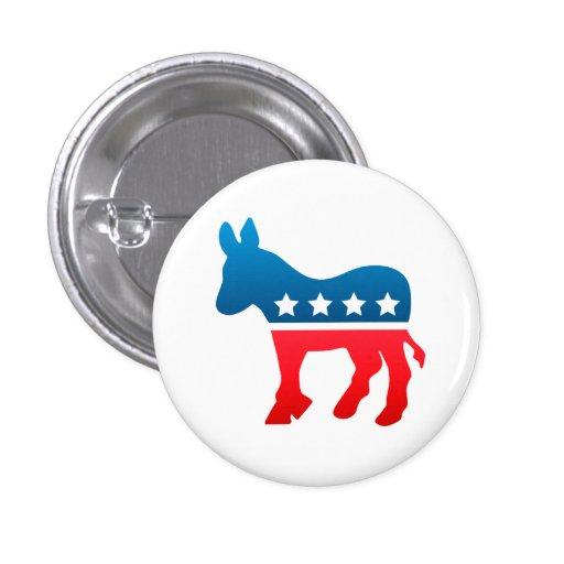 Botón de Demócrata Pins
