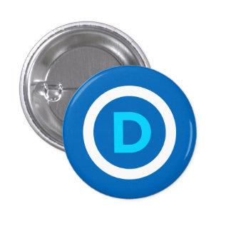 Botón de Demócrata Pin Redondo De 1 Pulgada