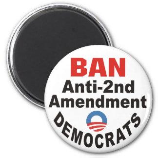 Botón de Demócratas de la enmienda de la PROHIBICI Imán Redondo 5 Cm