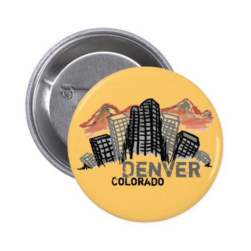 Botón de Denver Colorado Pin
