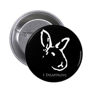 Botón de desaprobación negro de los conejos pins