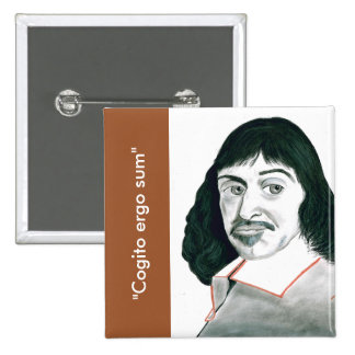 Botón de Descartes Pin Cuadrado