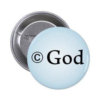 Botón de dios de Copyright Pins