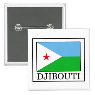 Botón de Djibouti Pin Cuadrado