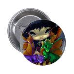 """Botón de """"dos Dragonlings lindo"""" Pin Redondo De 2 Pulgadas"""