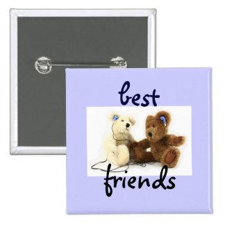 Botón de dos mejores amigos de los osos