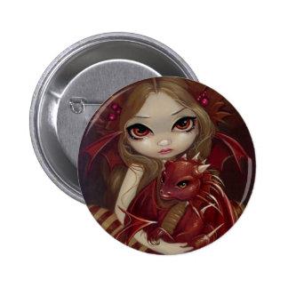 """""""Botón de Dragonling de la tierra de Siena"""" Pins"""