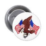 Botón de Eagle y de las banderas Pin