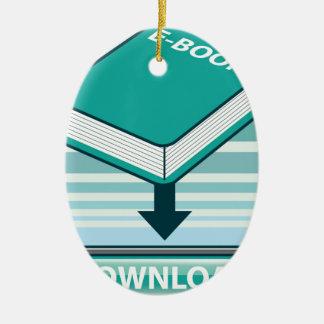 Botón de Ebook de la transferencia directa con el Adorno Navideño Ovalado De Cerámica