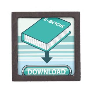 Botón de Ebook de la transferencia directa con el Caja De Joyas De Calidad