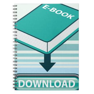 Botón de Ebook de la transferencia directa con el Libros De Apuntes