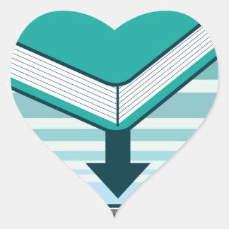 Botón de Ebook de la transferencia directa con el Pegatina En Forma De Corazón