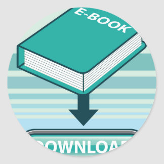 Botón de Ebook de la transferencia directa con el Pegatina Redonda