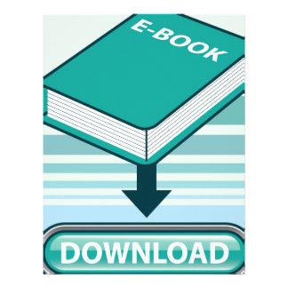 Botón de Ebook de la transferencia directa con el Plantilla De Membrete