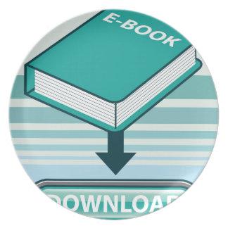 Botón de Ebook de la transferencia directa con el Platos