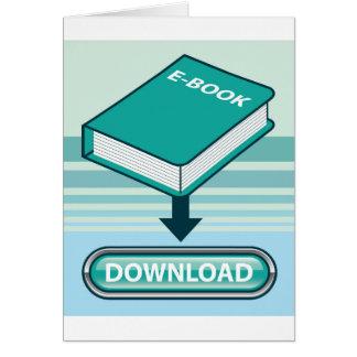 Botón de Ebook de la transferencia directa con el Tarjeta De Felicitación