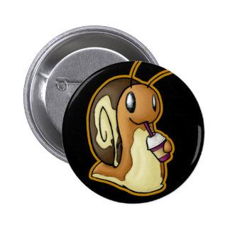 Botón de Ecru Pin Redondo De 2 Pulgadas