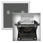 Botón de Edgar Allan Poe Pins