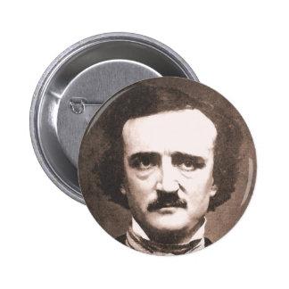 Botón de Edgar Allen Poe Pin Redondo De 2 Pulgadas