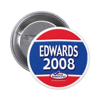 Botón de Edwards 2008 Pin Redondo De 2 Pulgadas